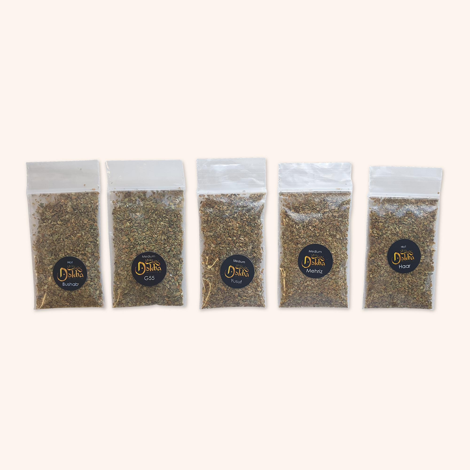5 Sample Dokha Bags