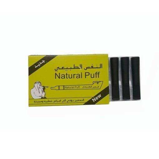 Matte Black Natural Puff filters - Dokha Accessories - Enjoy Dokha