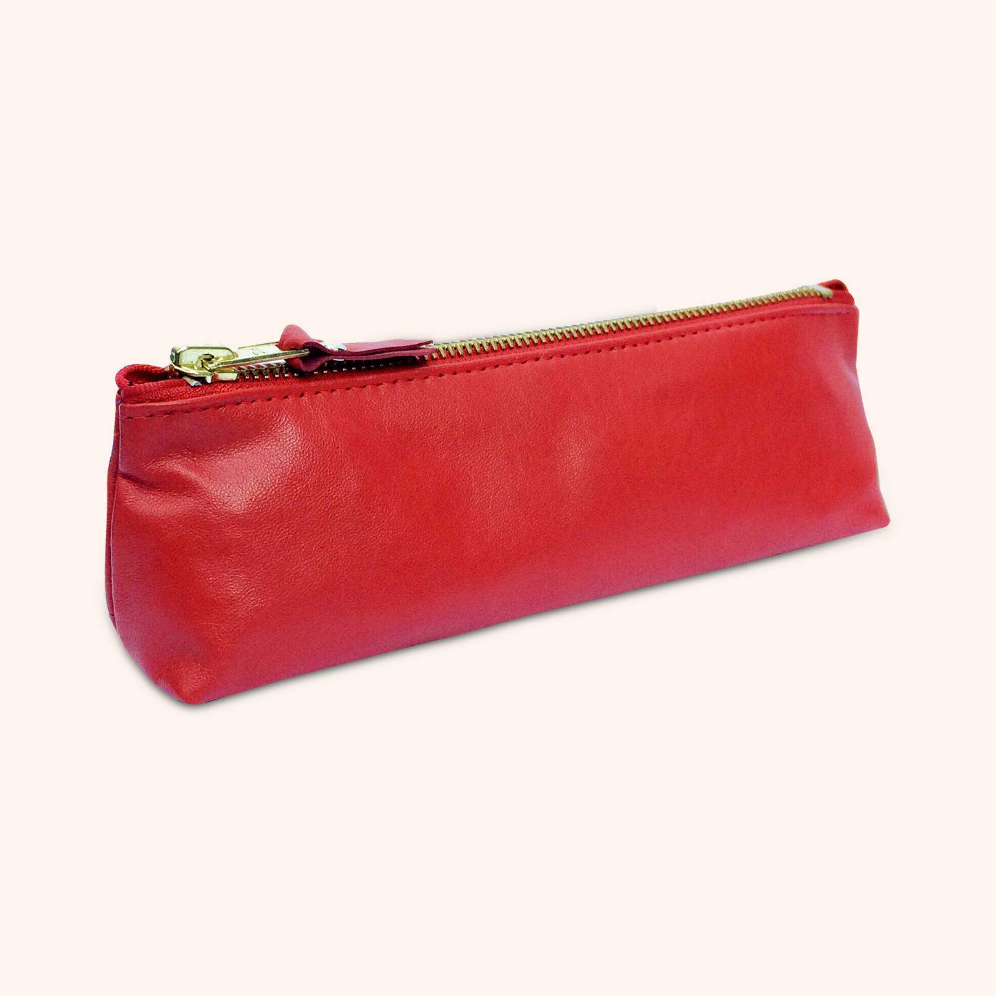 100% Genuine Leather Pouch – Ferrari Red