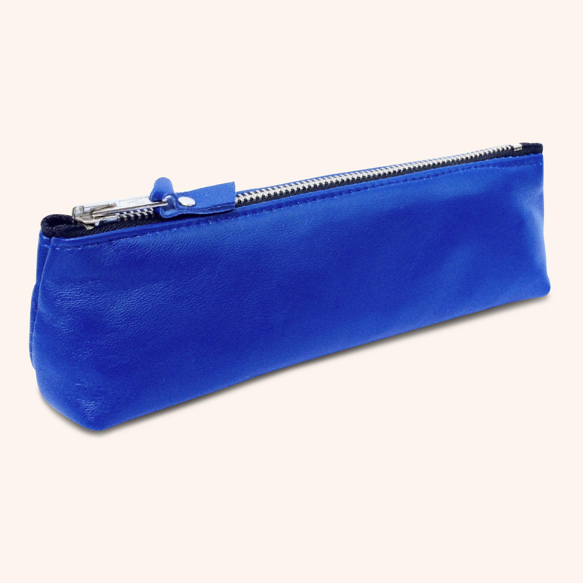 100% Genuine Leather Pouch – Cobalt Blue