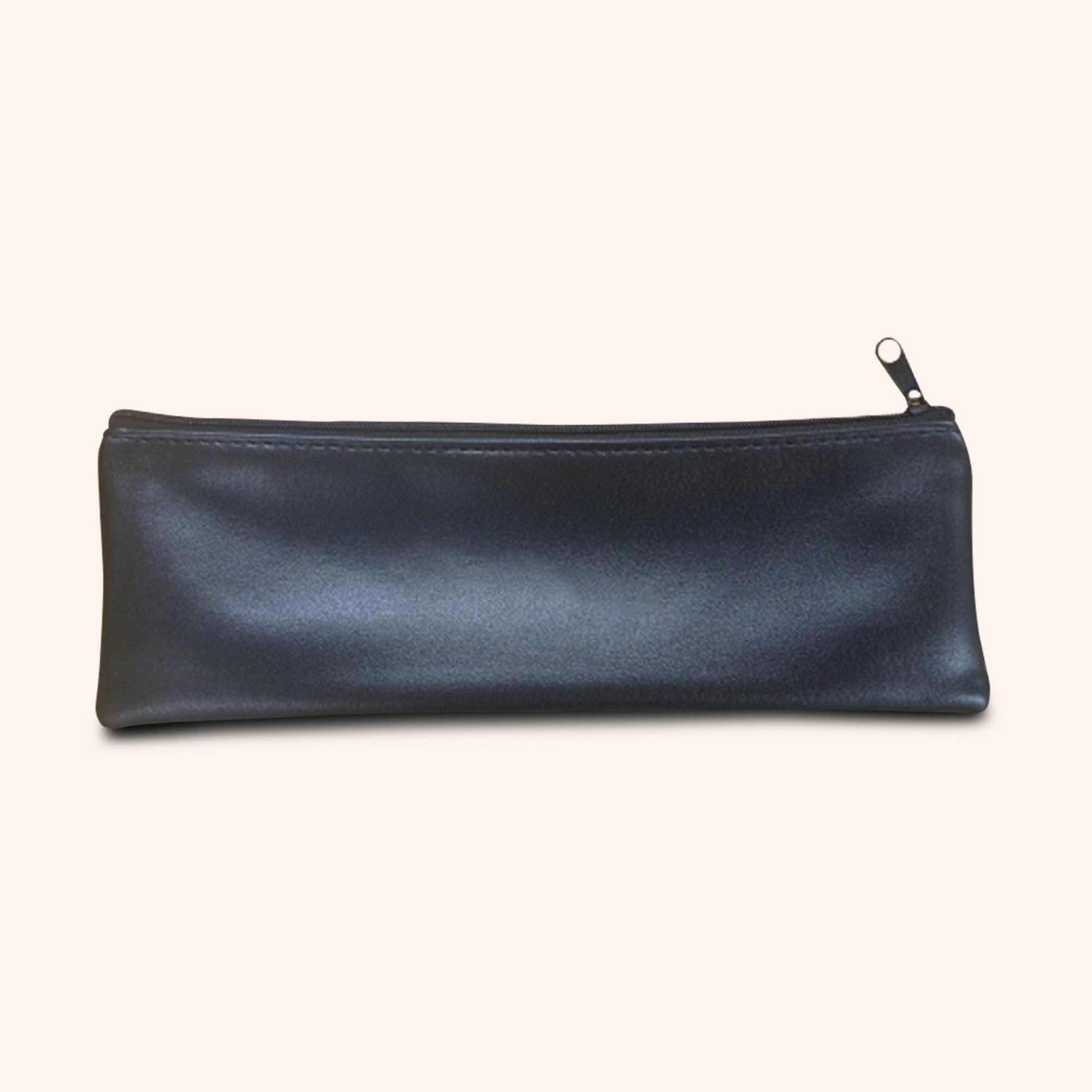 Grande Black Faux Leather Pouches