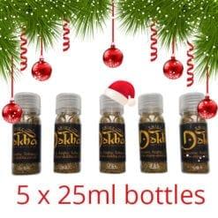 5 x 25ml Bottles Christmas offer