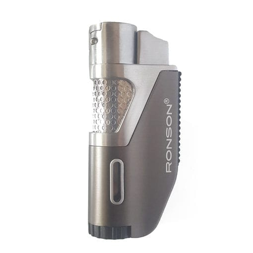 Ronson Windproof Lighter GR Ronson Grey Round Jet Flame Lighter
