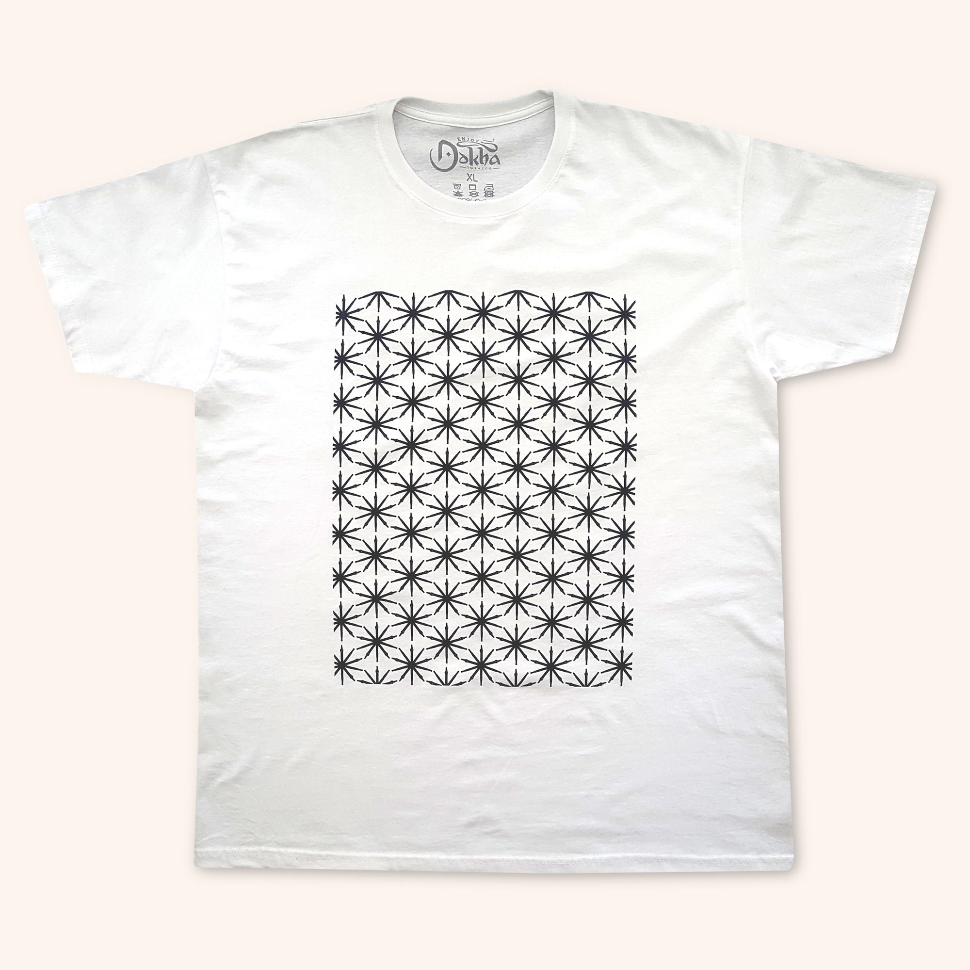 Enjoy Dokha USA White Medwakh Star tshirt