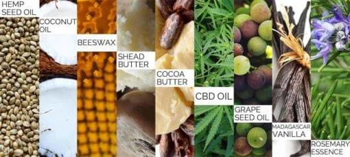 CBD Skin Balm - CBD Oils - Pharmahemp - Enjoy Dokha - UK - Ingredients of CBD Skin Balm