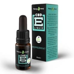 Peppermint CBD e liquid drops 1 percent by Pharmahemp - Enjoy Dokha