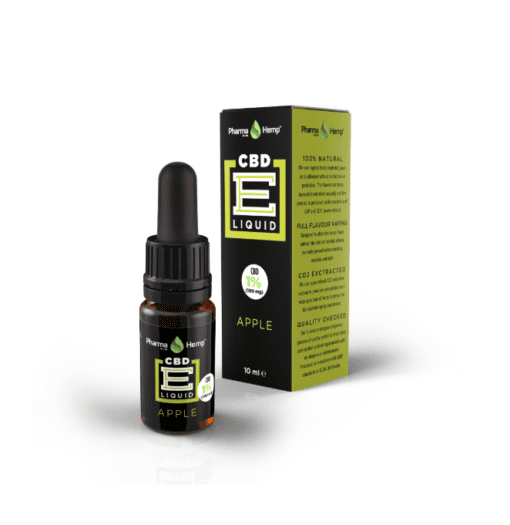 Pharmahemp CBD E Liquid 1% Apple flavour - Enjoy Dokha