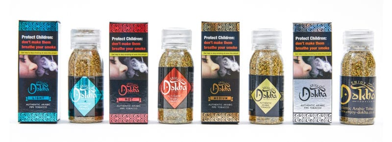 Enjoy Dokha Arabic tobacco in packaging 50ml bottles