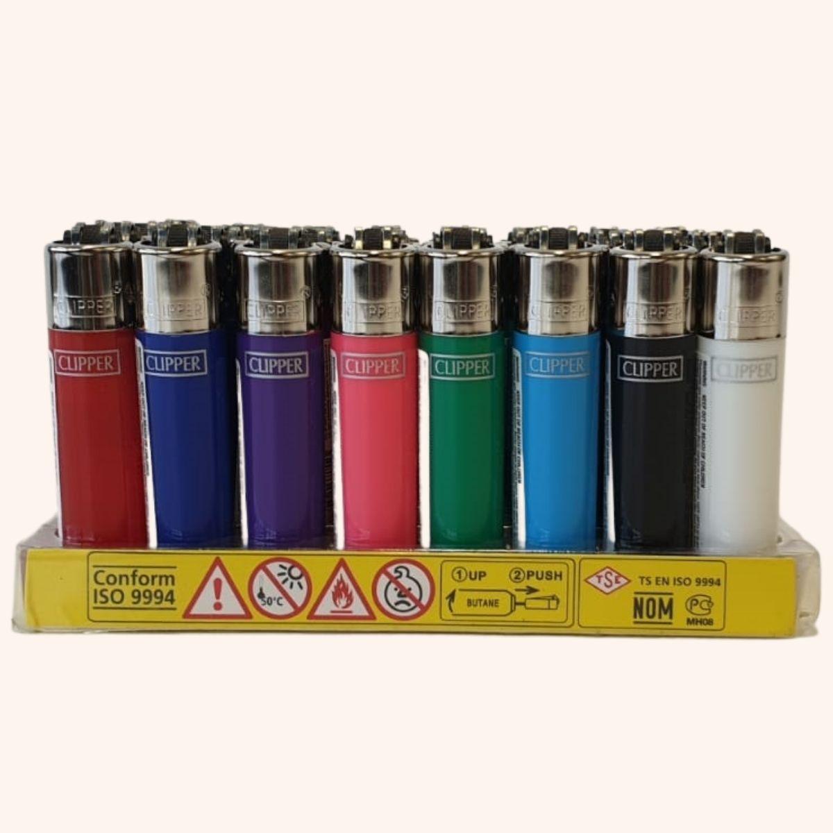 Clipper Mini Lighters – 8 Colours
