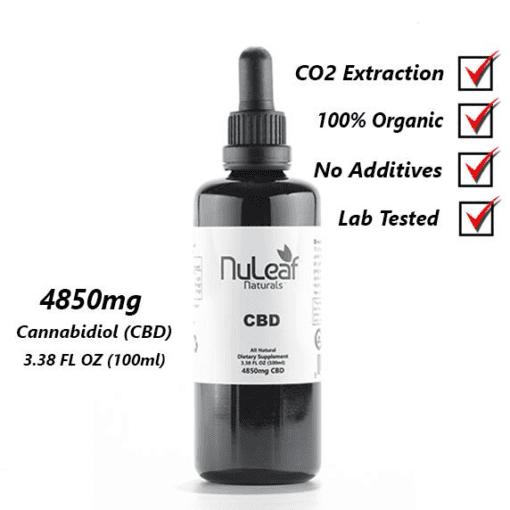 Nuleaf CBD Oil 4850mg