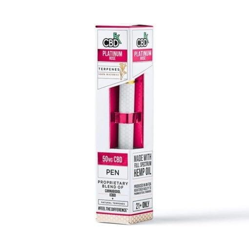 Platinum Rose CBD Tarpenes Vape pen 50mg by CBDFX