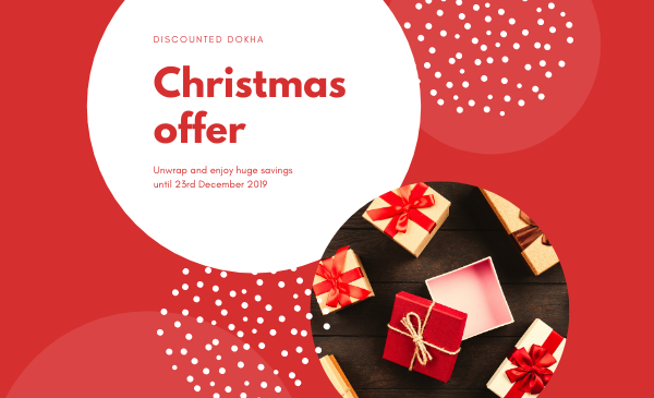 Christmas blog post design - enjoy Dokha
