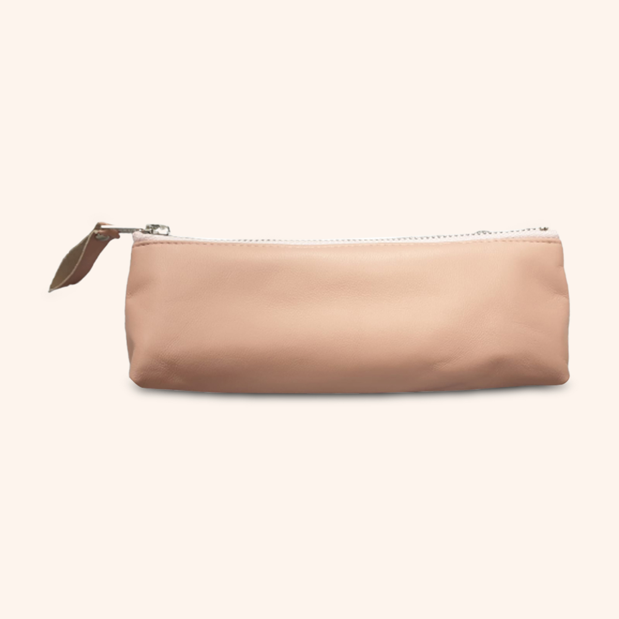 100% Genuine Leather Pouch – Peachy Pink