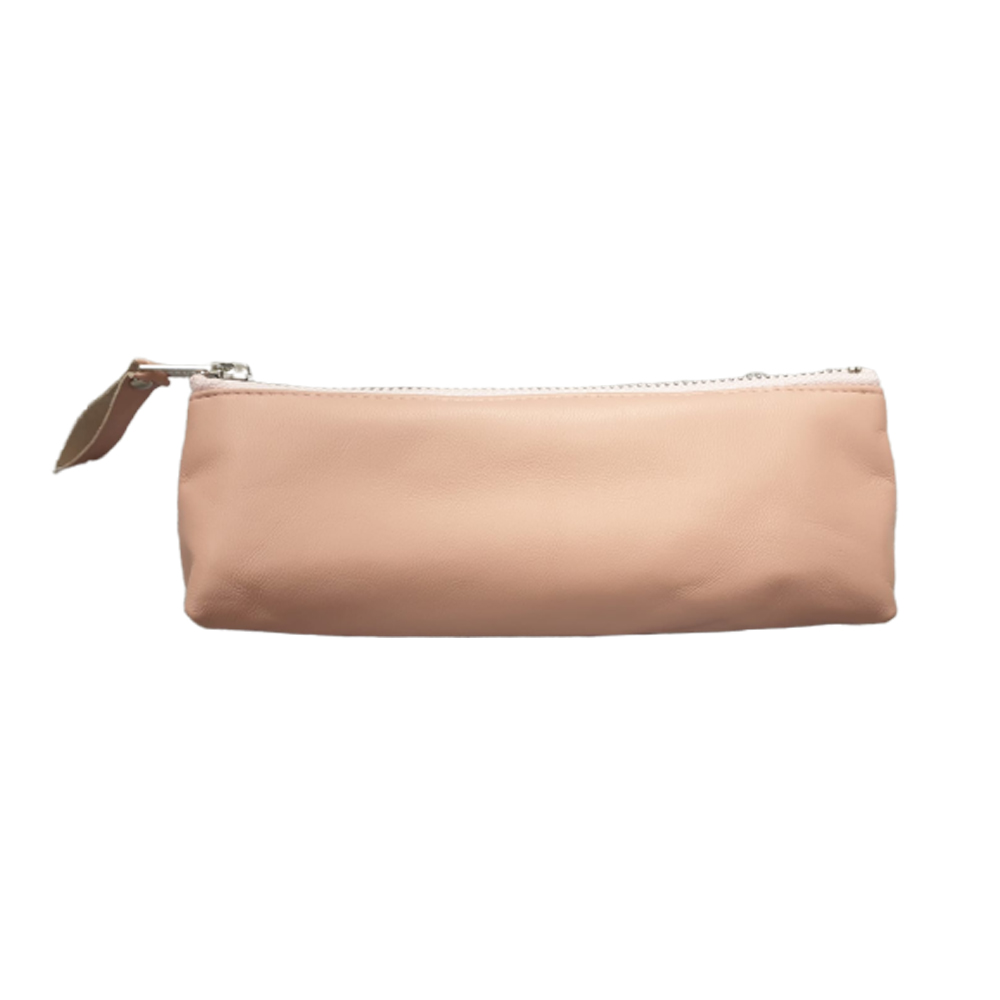Peachy Pink Leather Pouch - Enjoy Dokha