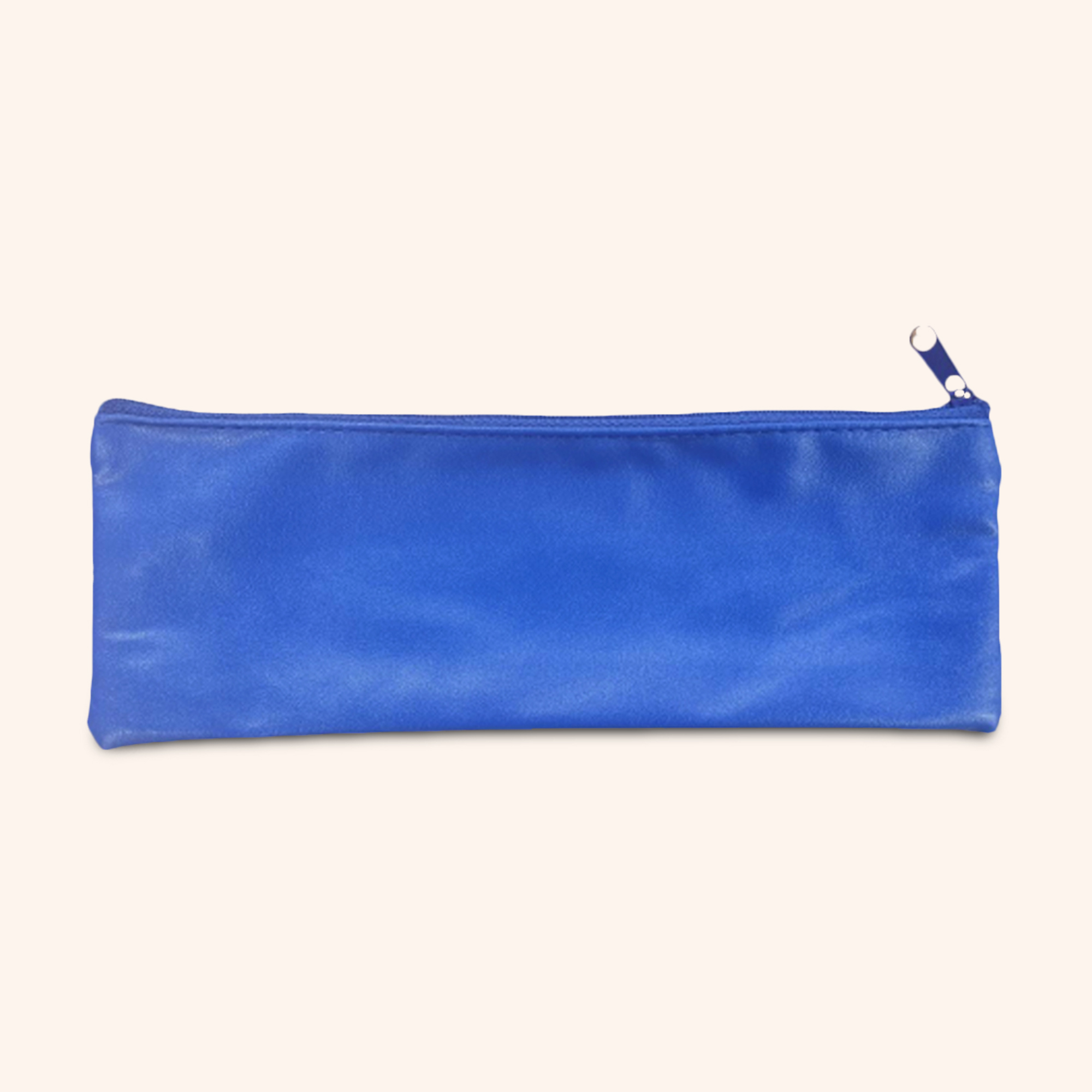 Grande Blue Faux Leather Pouch