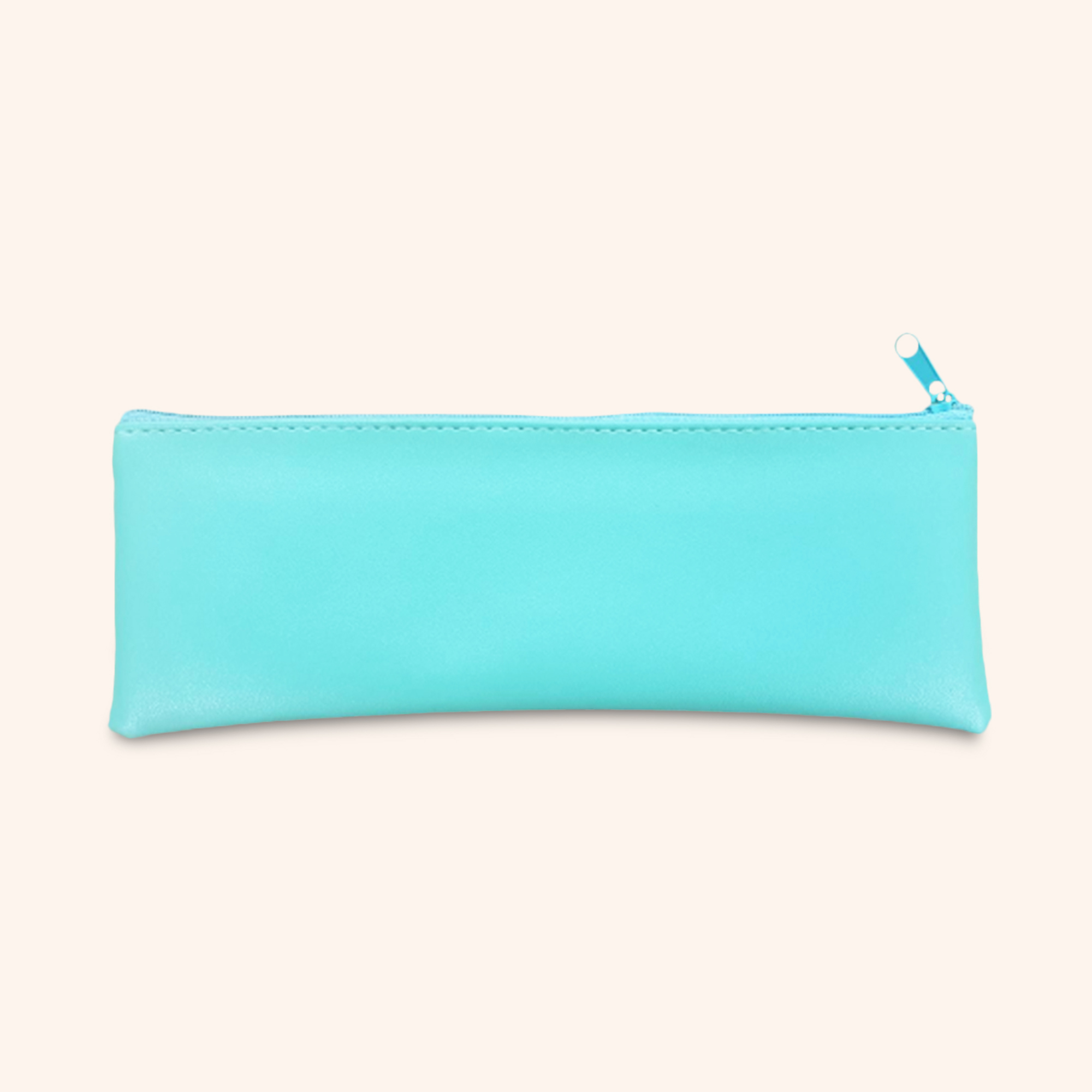 Grande Turquoise Faux Leather Pouch